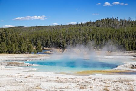 Black sands geyser basin in the Yellowstone National park, USA Stock Photo