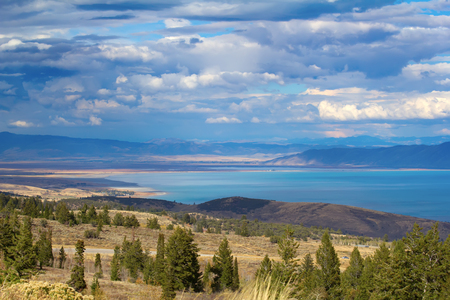 Bear lake, Utah - Idaho border, USA