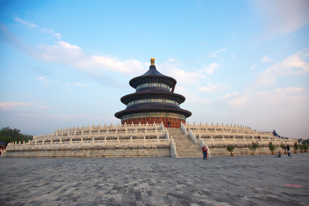 Temple of Heaven at sunset. Beijing, China