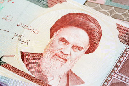 Variety of Middle East banknotes Editorial