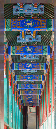 BEIJING, CHINA - OCTOBER 15, 2017: The Summer Palace, the Chinese imperial palace and garden from the Jin dynasty to the end of the Qing dynasty (1150 to 1912). Redakční