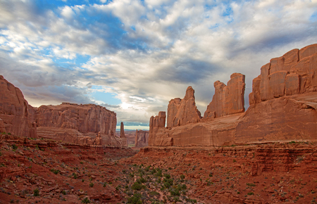 Sunset over the Arches National park, Utah, USA Stock fotó