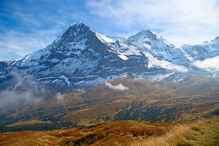 Autumn landscape in the Jungfrau region