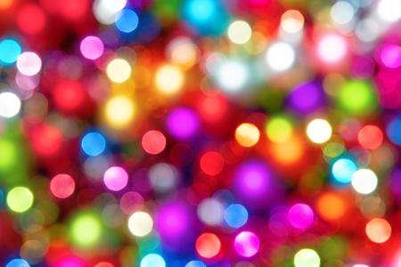 Defocused ligths of Christmas tree Stockfoto