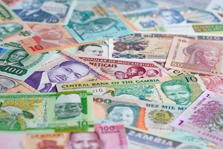 Varietà di banconote africane
