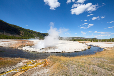Black sands geyser basin in the Yellowstone National park, USA Archivio Fotografico