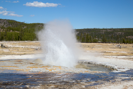 Black sands geyser basin in the Yellowstone National park, USA 写真素材