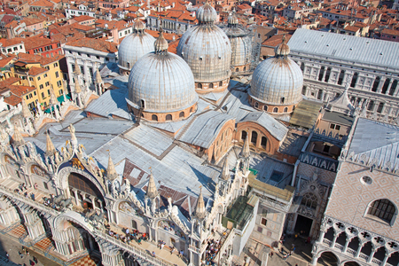 Aerial view of the Venice city, Italy Stock Photo