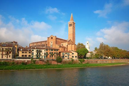 Ancient city of Verona in the northern Italy 版權商用圖片