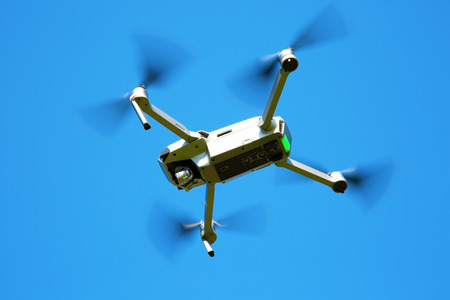 Drone in the blue sky