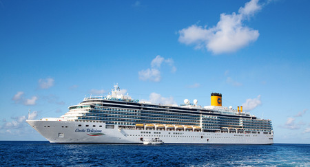 GEORGE TOWN - February 16: Costa Deliziosa visiting George town on the cruise in Caribbean sea on February 16, 2019 in George town, Cayman islands. George town is major cruise destination on Grand Cayman. Editorial