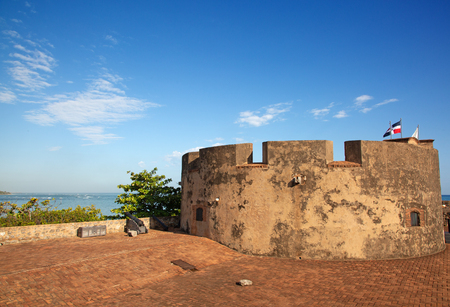 Old spanish fort on the seashore in Puerto Plata, Dominican Republic