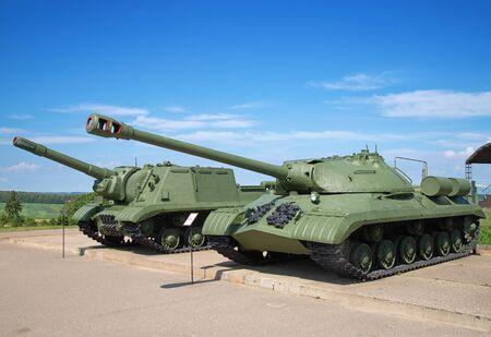 Soviet tank on the demonstration