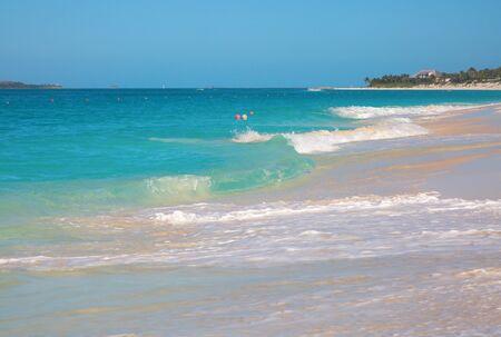Cabbage beach on Paradise island in Nassau, Bahamas Banco de Imagens - 132113701