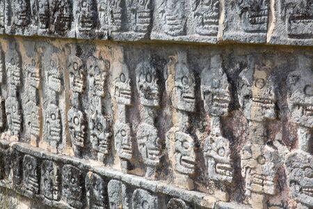 Ruins of the Chichen-Itza, Yucatan, Mexico Zdjęcie Seryjne - 130069580