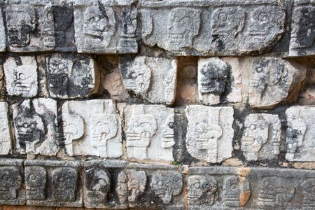 Ruins of the Chichen-Itza, Yucatan, Mexico Zdjęcie Seryjne - 130069697