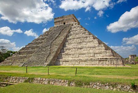 Ruins of the Chichen-Itza, Yucatan, Mexico Zdjęcie Seryjne - 130069985