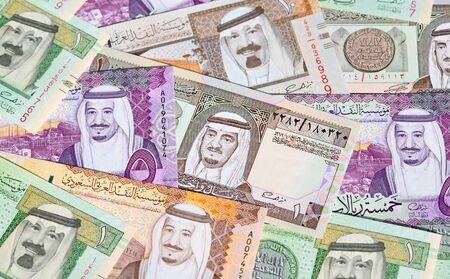 Sammlung von Saudi-Arabien Riyal Banknoten