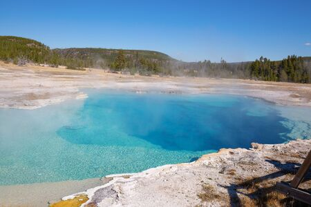 Black sands geyser basin in the Yellowstone National park, USA 스톡 콘텐츠 - 132114781