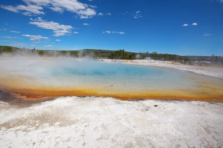 Black sands geyser basin in the Yellowstone National park, USA 스톡 콘텐츠 - 132113972