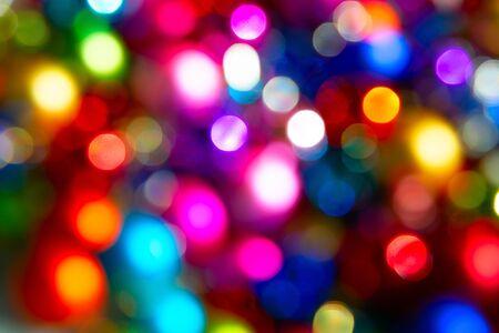 Defocused ligths of Christmas tree Standard-Bild