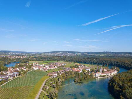 Autumn landscape nearby Rheinau monastery