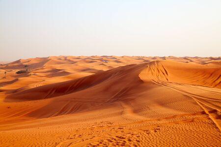 """Red sand """"Arabian desert"""" near Riyadh, Saudi Arabia"""