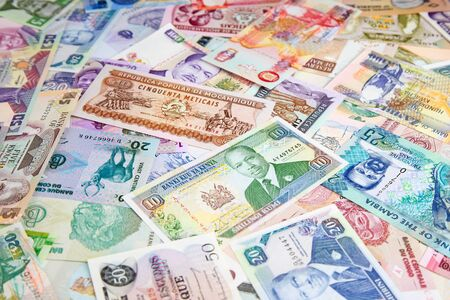 Variety of the African banknotes Reklamní fotografie