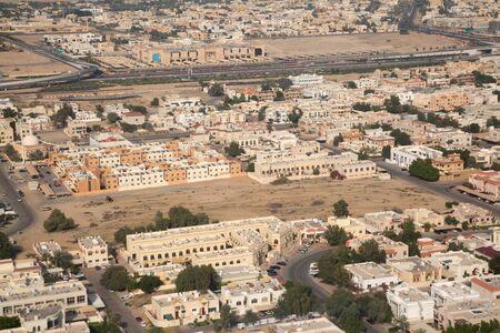 Aerial view of Dubai downtown. Dubai is biggest city of the United Arab Emirates Foto de archivo