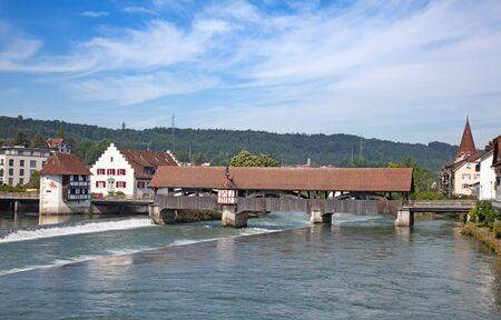 Bremgarten old town near Zurich, Switzerland Stock fotó