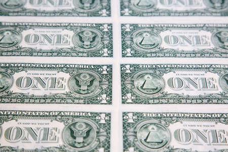 US 1 dollar banknote collection Archivio Fotografico