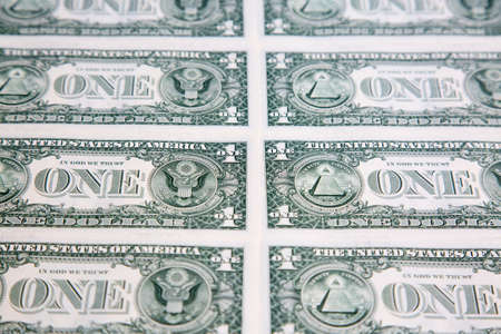 US 1 dollar banknote collection Stock fotó
