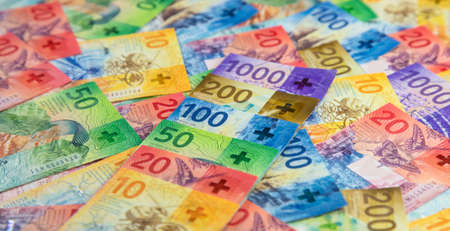 Collection of the new swiss banknotes (issued in 2017-2019) Reklamní fotografie