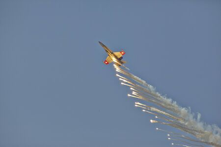 airshow: AIR14 Airshow in Payerne Switzerland, FA-18 Hornet Demo 09062014