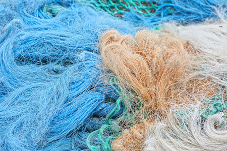 net: fish net normandy france Stock Photo