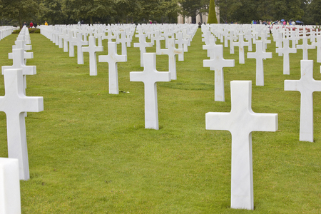 graves: Graves Soldiers D Day Normandy France Stock Photo