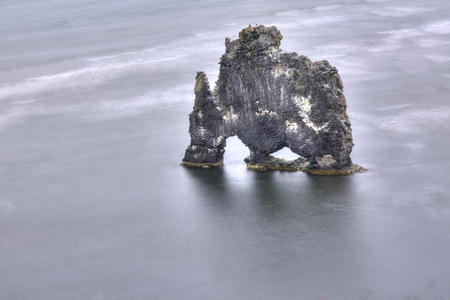 basalt: Hvitserkur basalt rock, north iceland Stock Photo