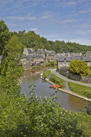 rance: River Port at Dinan, Brittany, France