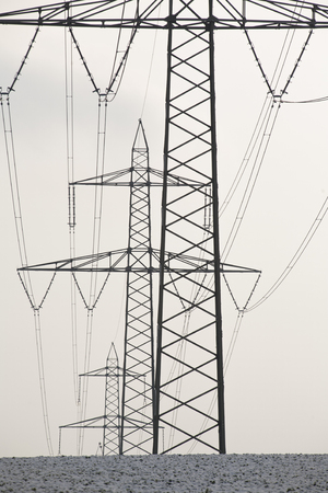 power: Power poles with power cables