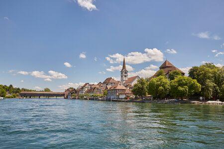 Diessenhofen am Fluss Lizenzfreie Bilder