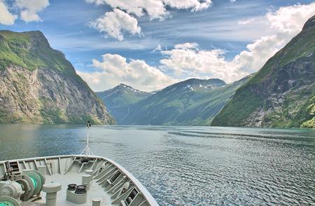 Geirangerfjord Hurtigruten Norwegen