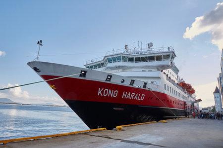 Hurtigruten-Schiff in Alesund, 07.07.2017 Editorial