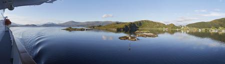 Norwegische Küste während der Hurtigruten Sommer