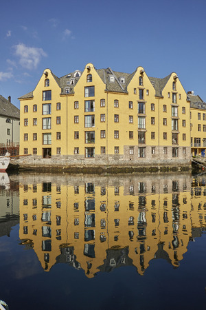 Alesund Art Nouveau Stadt auf Norwegen