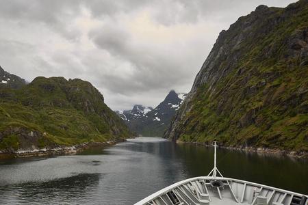 Trollfjord Lofoten Hurtigruten Norwegen