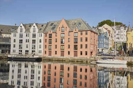 Alesund Art Nouveau Stadt in Norwegen
