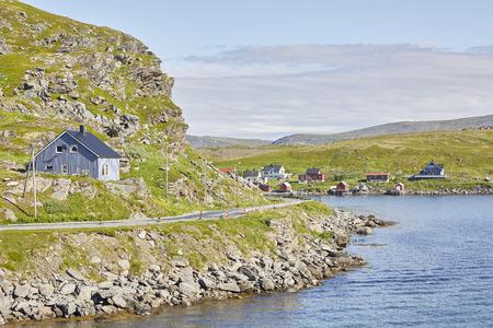 Kjollefjord Landschaft Lizenzfreie Bilder