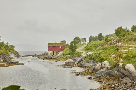Dorf am Fluss Norwegen Saltstraumen