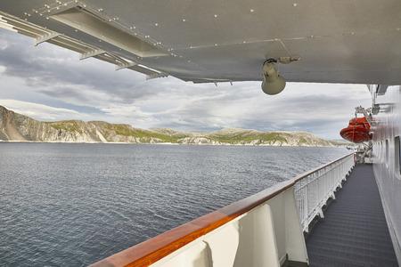 Hurtigruten Kreuzfahrt Landschaft von Deck Lizenzfreie Bilder