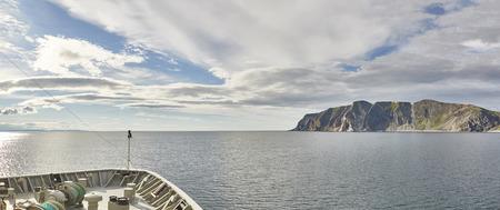 Norwegische Polar Finnmark Panorama Landschaft Lizenzfreie Bilder